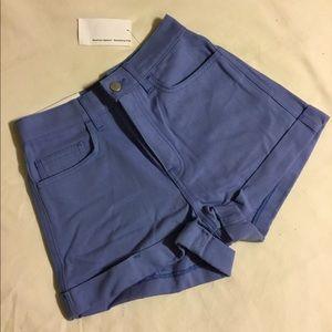 NWT American apparel soft blue high waisted shorts